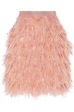 ������DKNY Tiered Feather Skirt, Blush, BNWT