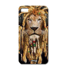 CUSTODIA COVER CASE LEONE RASTA LION MUSIC PER iPHONE 6 4.7""