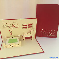house warming new house 3D card congratulations pop up greeting card