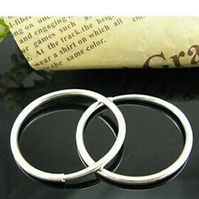 THE BEST Sterling Silver Small Thin Endless Hoop Earrings Round Chic