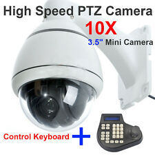 10x Zoom SONY CCD 700TVL High Speed PTZ Dome CCTV MiNi Camera + Keyboard Control