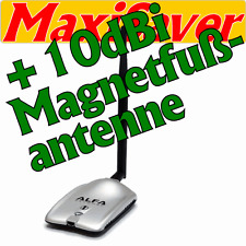 ALFA USB Stick Karte Adapter AWUS036H WiFi WLAN ••PLUS•• 10dBi MAGNETFUß ANTENNE