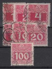 Österreich Porto 34-44 y , dünnes Papier