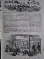 Court Martial of Commander Pitman of HMS Impregnable 1849 old print my ref T