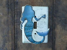 MERMAID Metal Light Switch Plate Cover ~ NEW ~ Nautical Beach