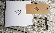 "WEDDING STAMP, PERSONALISED BESPOKE INITIALS & DATE 1"" or 25mm heart"