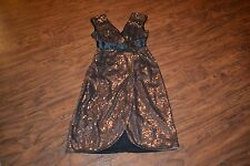 A2- NWT BCBG Max Azria Light Taupe Reeve Sequin Dress Size XS MSRP $468.00