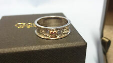 Welsh Clogau Silver & Rose Gold Cariad Diamond Heart Ring Size P