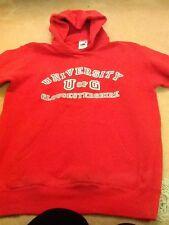 Rojo señoras con capucha Sudadera Tamaño Pequeño. Universidad de gloucsetershire