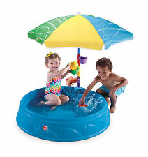 Step2 Play & Shade Pool Kiddie Umbrella Plastic Kids Water Wading Toys Cups Game