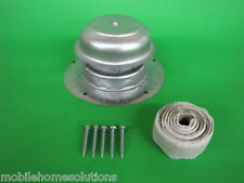 Metal Roof Vent Cap Mobile Home Parts RV Camper Trailer w/ Install Kit