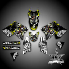 Suzuki RM 125 250 2001 - 2009 2 STROKE GRAPHICS KIT DECALS OUTLAW YELLOW