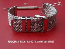 QUALITY MESH BAND BRACELET STRAP TO FIT EMPORIO ARMANI AR1811 AR1810 LUIGI WATCH