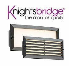 Knightsbridge LED Bricklight Outdoor Brick Light White / Black Fascia Low Energy