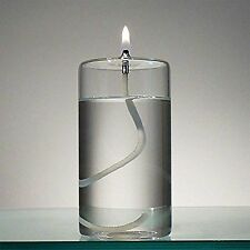 "5"" Refillable Glass Pillar Candle - Liquid Candles Lamp Oil Décor Dining Table"