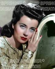 GAIL RUSSELL WEARING A LIME GREEN DRESS STUNNING COLOR PHOTO BY CHIP SPRINGER