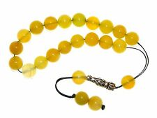 0056 - Loose String Greek Komboloi Prayer Beads Worry Beads 10mm Yellow Agate