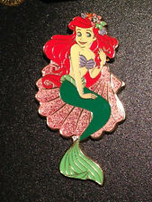 Japan Tokyo Disney Resort TDR Little Mermaid Ariel with Pink Sparkly Shell Pin