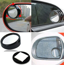 2pcs Car small round mirror / Blind Spots Rearview /Reverse Auxiliary Lens Black