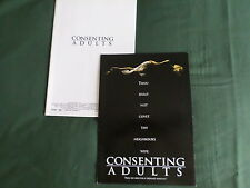 "PRESS SHEET & PRODUCTION NOTES- ""CONSENTING ADULTS ""-KEVIN KLINE - KEVIN SPACEY"