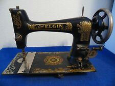 Vtg The Elgin Rotary Sewing Machine Manual Treadle Heavy Duty Capability