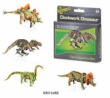 Kids Clockwork Wind Up Toy ranura juntos Dinosaurio 3d Modelo Partido Bolsa Relleno Toys