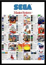 Sega master system de remplacement game box art manches/insertion. reproduction. pas de jeu.