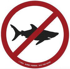 The original 'No Sharks Allowed'  Surf Sticker