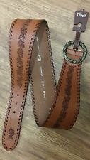 BT3645231 NEW FOSSIL Ladies Genuine Leather Tan Whip Stitch Sash Belt Size L