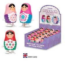 Kids Clockwork Wind Up RUSSIAN DOLL Birthday Christmas Stocking Filler Toy Gift