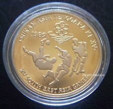 MALAYSIA XV SEA GAMES 1989 RM5 PROOF COIN