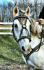 Handcrafted Baroque Bridle Set Large stock horse to crossbred size Free Shipping