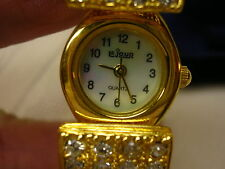 Lejour Ladies Watch In Original Box Working Rhinestone Bangle