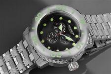 Aragon 55mm Gauge Multifunction Black Dial Stainless Steel Bracelet Watch