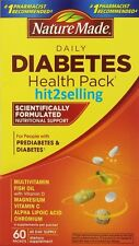 Nature Made Diabetes Health Pack (60 Packets) Vitamin C, D, Fish Oil Exp. 2017