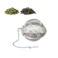 2PCS NEW Tea Ball Strainer Mesh Loose Leaf Infuser Round Stainless Reusable