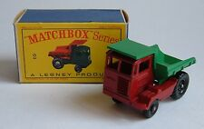 Matchbox Series No. 2, Muir - Hill Dumper, - Superb Mint.