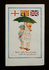 1914 WW1 Postcard Wait Till The Clouds Roll By England Boulac Cairo Egypt