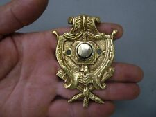 Antique Bronze Door Bell Push Button Original