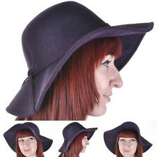 VINTAGE Style Purple Felt Floppy Hat 57cm BNWT/NEW Wool Wide Brim Hat Festival