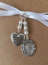 Bridal Bouquet Oval Frame Memory Charm Wedding With Heart Swarovski Beads White