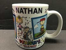 Nathan Personalized Camp Snoopy Mall Of America Mug Peanuts Gang Charlie Brown