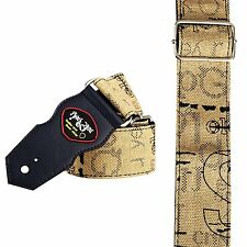 BROWN graphix art STRAP fawn graphic canvas guitar bass design beautiful (2547)