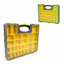 Clear Storage Box Screws Tool Case Plastic Container Compartment Organizer