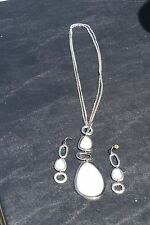"Lia Sophia Mother of Pearl ""Coast to Coast"" Necklace & Earrings set"