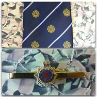 Royal Army Service Corps (Crest) Tie And Tie Bar Set RASC Queens Crown Version 2
