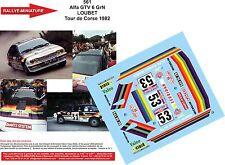 Decals 1/18 réf 561 Alfa GTV6 GRN LOUBET TOUR DE CORSE 1982