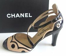 Chanel Brown Tan D'Orsay Pumps Size 37 US 6-6.5 NEW IN BOX