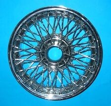 "MG MGB CHROME WIRE WHEELS 14"" X 4.5"" 60 SPOKE SET OF 4  DELIVERED"
