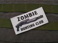 Patch Velcro - ZOMBIE HUNTING CLUB - blc SPAS 12 airsoft WALKING DEAD evil